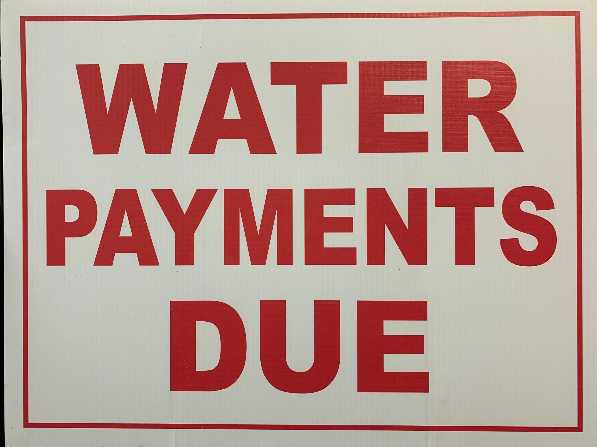 water payments due