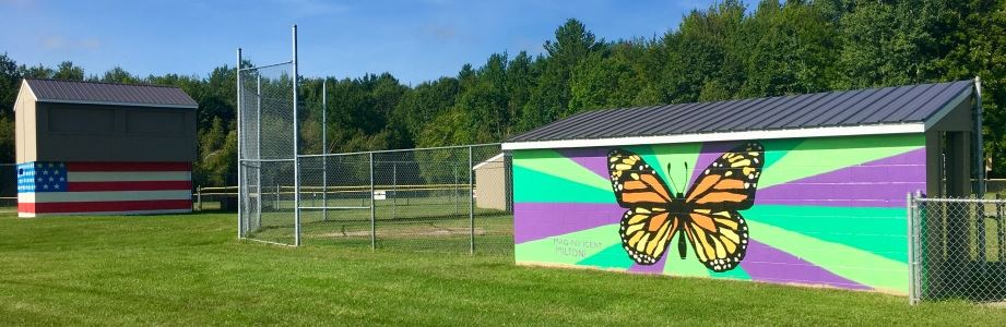 Murals in Bombardier Park West